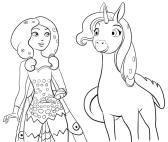 Desenho de Mia e Onchao para colorir e imprimir