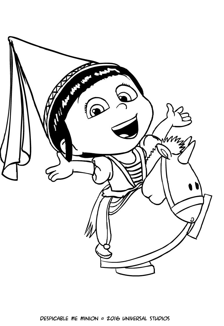 Disegno Di Agnes Con Lunicorno