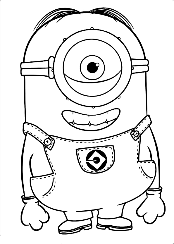 Desenho 19 De Minions Para Colorir
