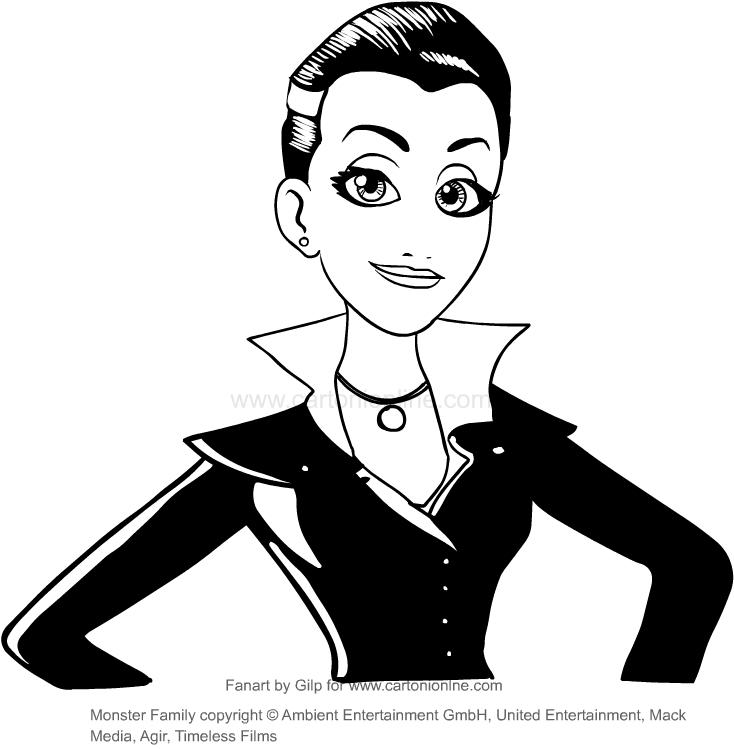 Disegno Di Emma Vampira Monster Family Da Colorare