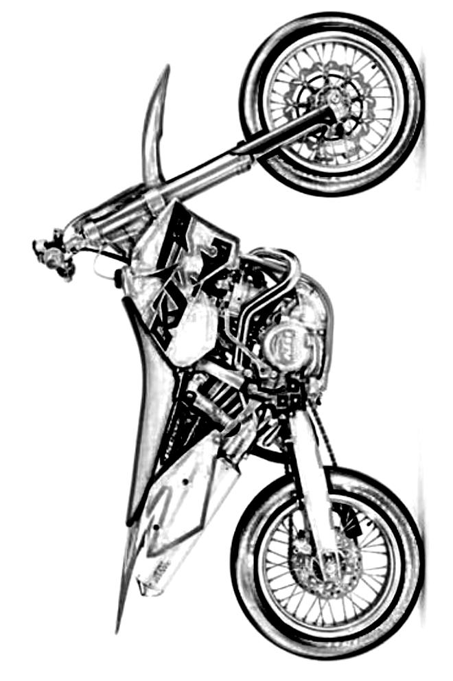 Disegno 5 Di Motociclette Da Colorare