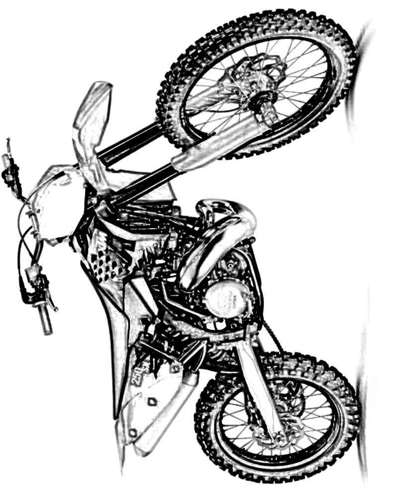 Ausmalbilder 6 Von Motorrader