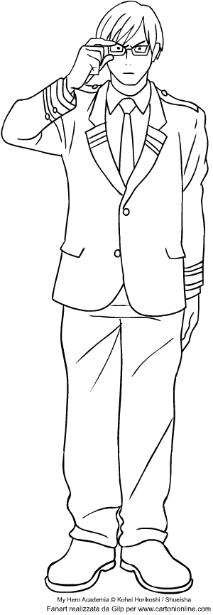 Izuku Midoriya From My Hero Academia Coloring Page