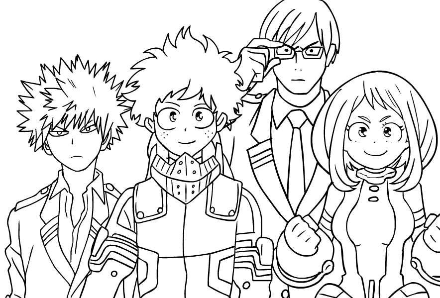 My hero academia coloring pages to print and coloring