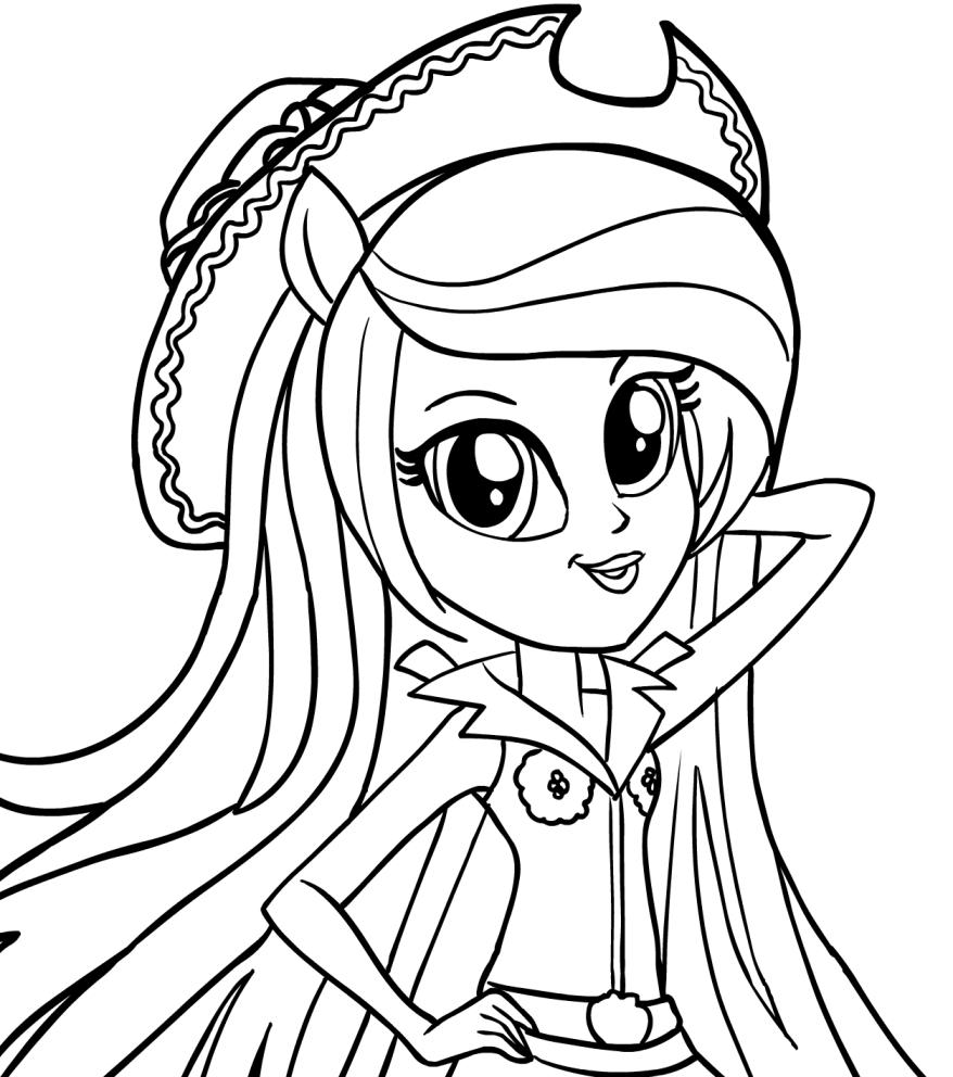 Disegno di applejack equestria girls in primo piano - Immagini di pony gratis da stampare ...
