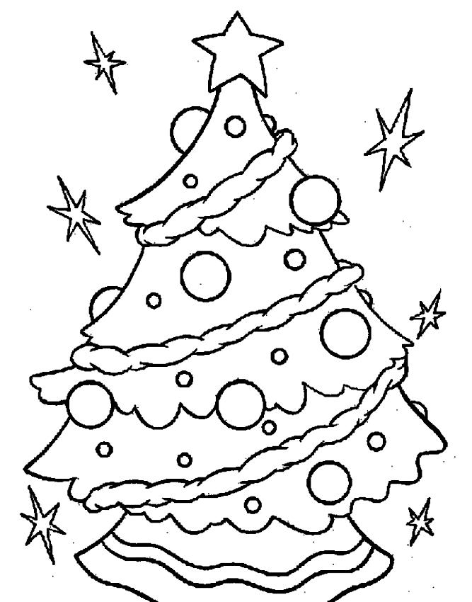 Disegni Da Colorare Albero Di Natale.Disegno Di Albero Di Natale Da Colorare