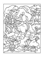 Página para colorear de Navidad para niños