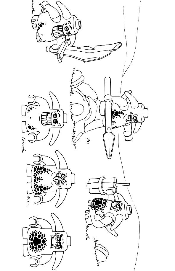 Suunnittelu 10 from Nexo Knight värityskuvat tulostaa ja värittää