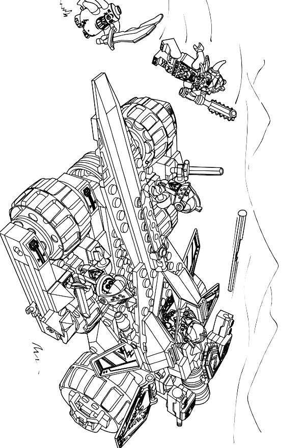 Suunnittelu 11 from Nexo Knight värityskuvat tulostaa ja värittää