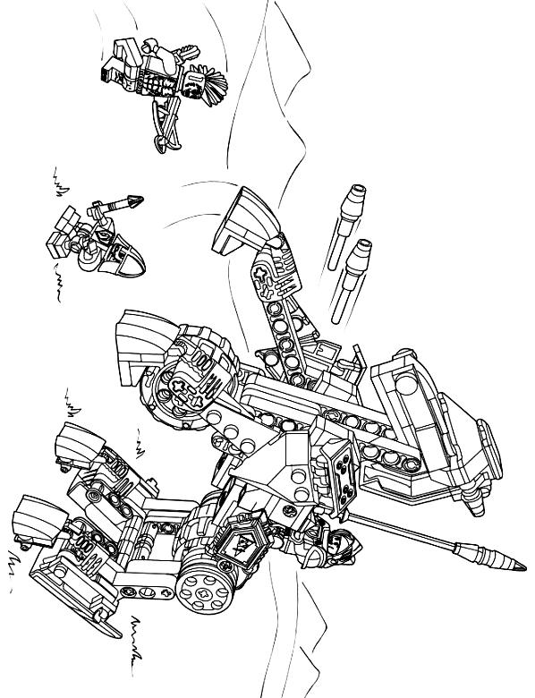 Suunnittelu 13 from Nexo Knight värityskuvat tulostaa ja värittää