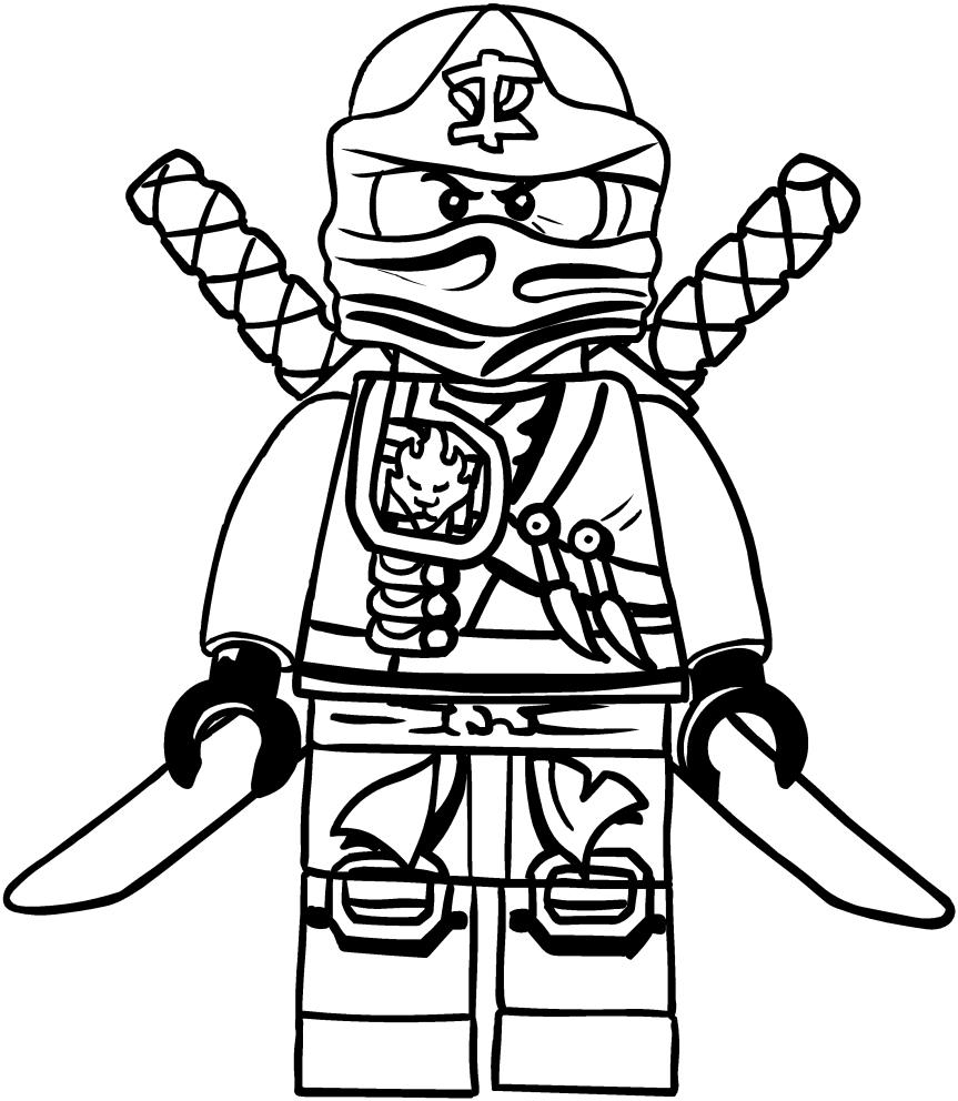 Coloriage de Ninjago Kai à imprimer et colorier