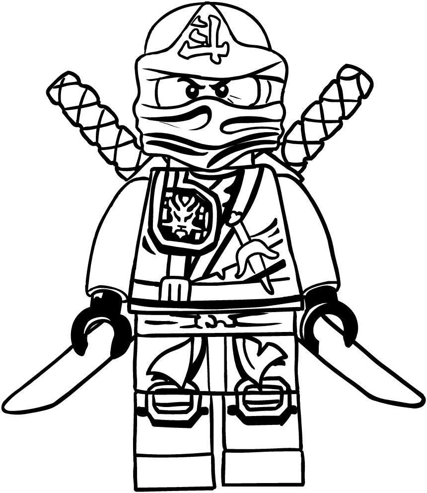 disegni da colorare e stampare gratis di ninjago