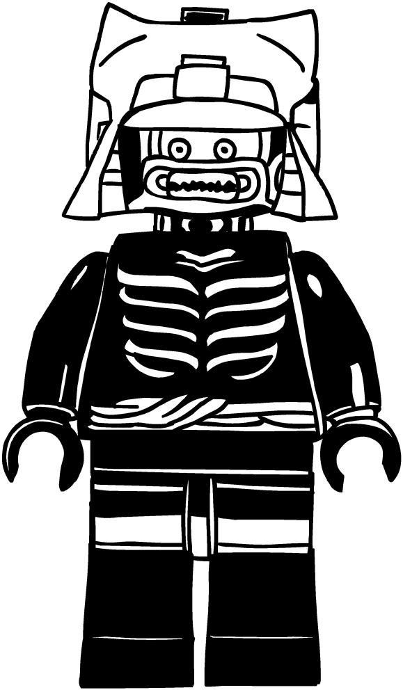 Coloriage de Lord Garmadon of the Ninjago pour imprimer et colorier