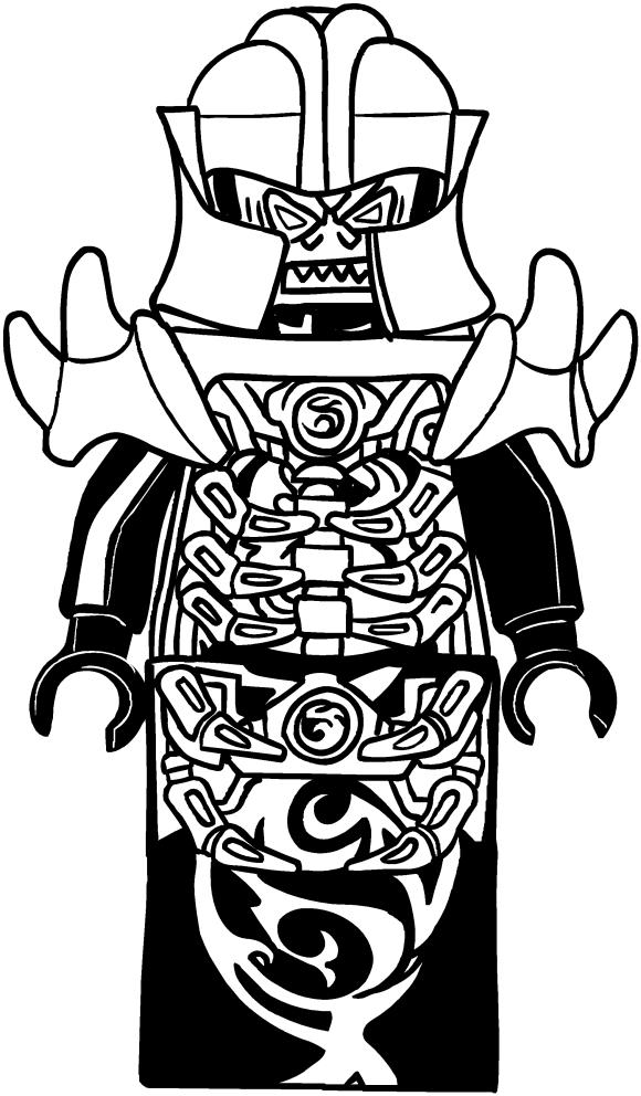 Ninjago Lego Kleurplaat Disegno Di Overlord Dei Ninjago Da Colorare
