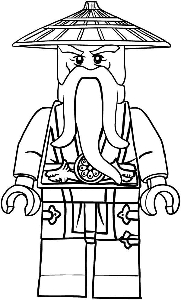Sensei Wu du dessin Ninjago à imprimer et colorier