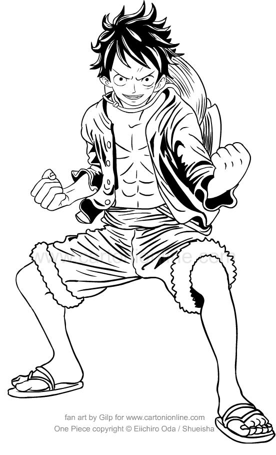 Monkey D.Luffy de One Piece à imprimer et colorier
