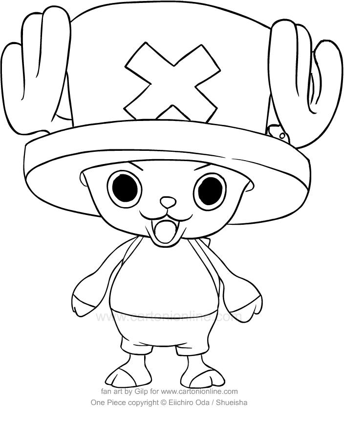 Coloriage de One Piece TonyTony Chopper à imprimer et colorier