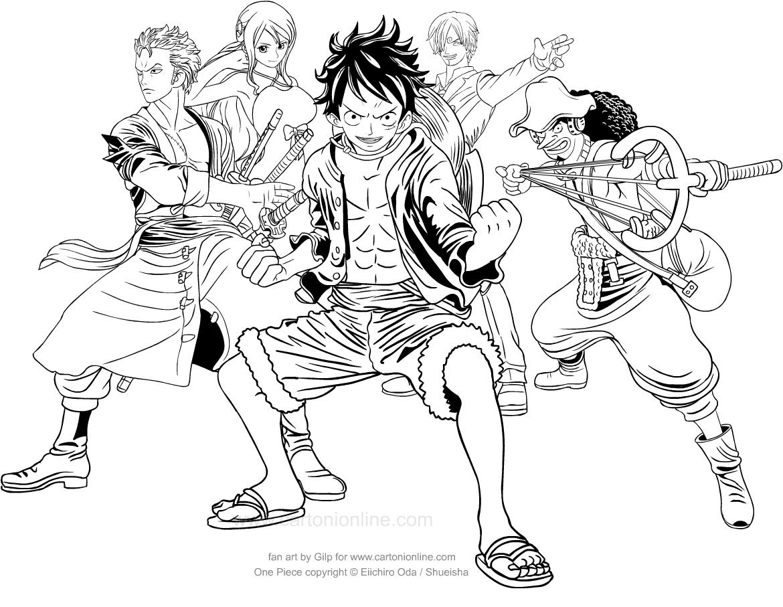 Coloriage de One Piece à imprimer et colorier