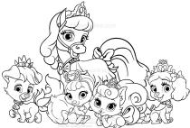 Disegni Dei Palace Pets Il Regno Dei Cuccioli Da Colorare