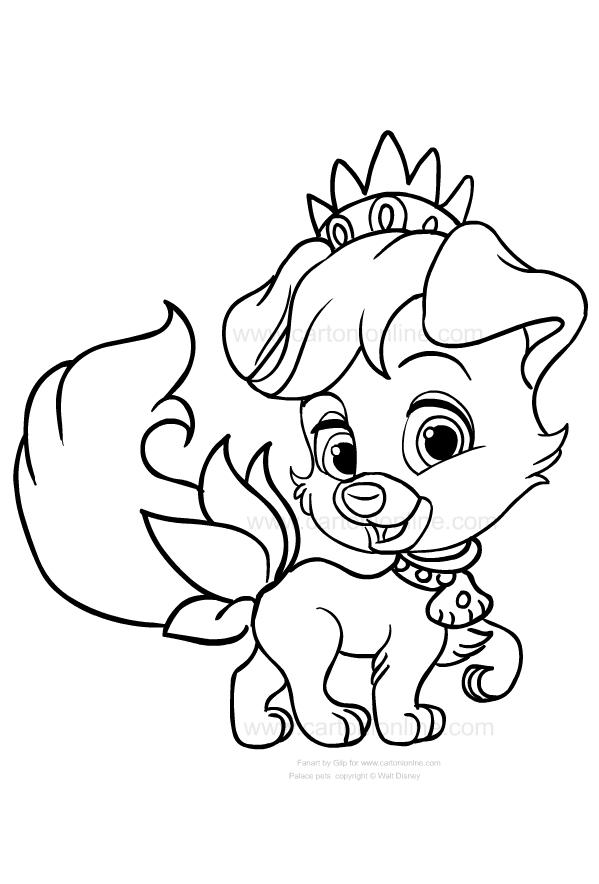 Disegno Di Matey Il Cane Di Ariel Dei Palace Pets Da Colorare