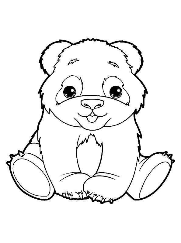 Disegno 18 di panda da stampare e colorare