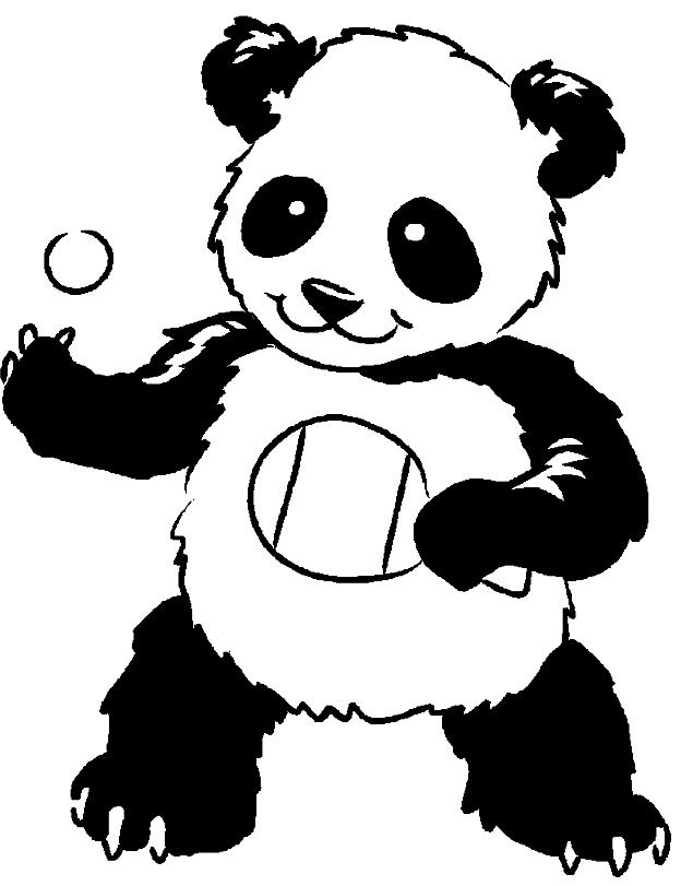 Disegno 21 di panda da stampare e colorare