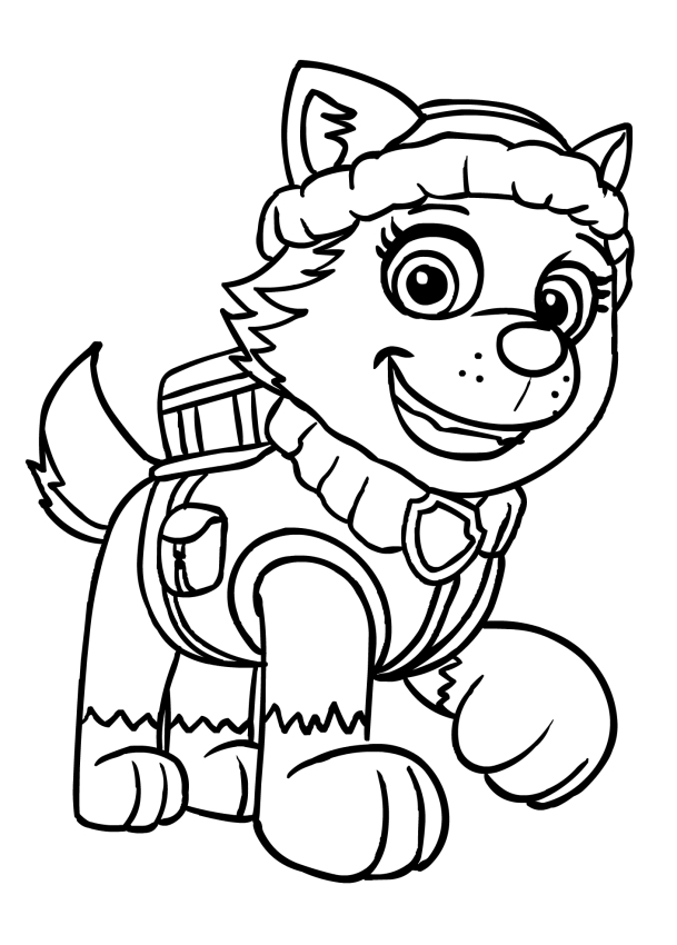Disegno da colorare di everest for Immagini paw patrol da colorare