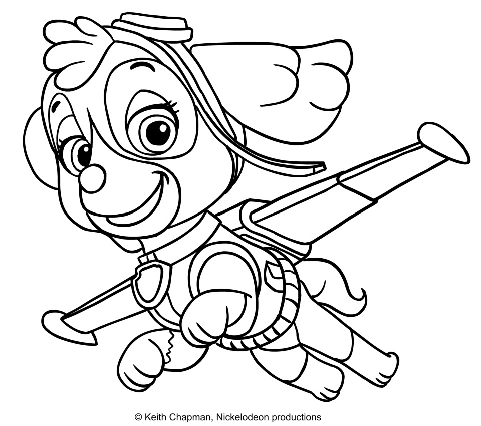 Skye Paw Patrol Coloring Pages : Skye free colouring pages