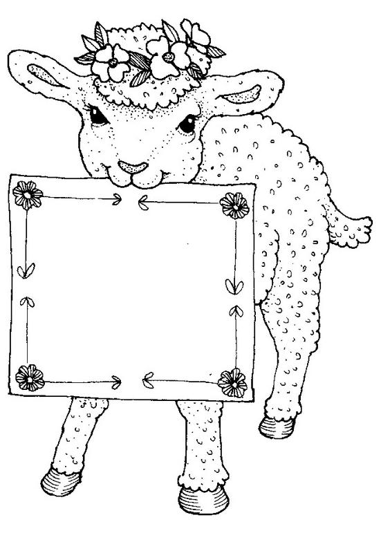 Disegno 8 di pecore da stampare e colorare