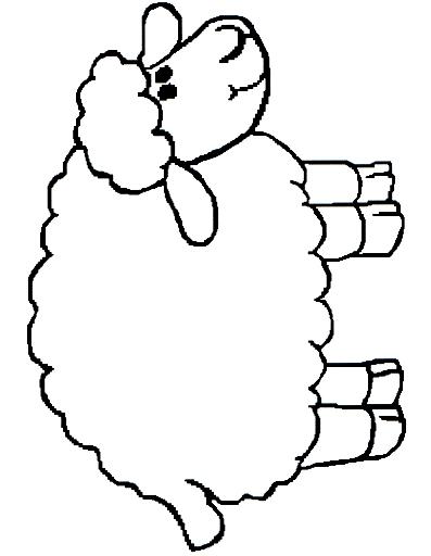 Dibujo 20 de oveja para imprimir y colorear