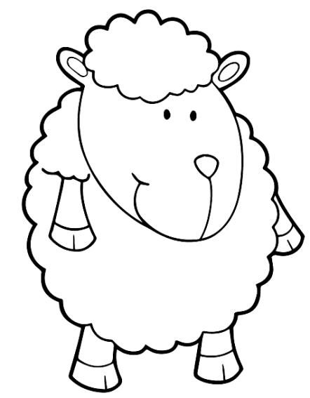 Disegno 22 di pecore da stampare e colorare