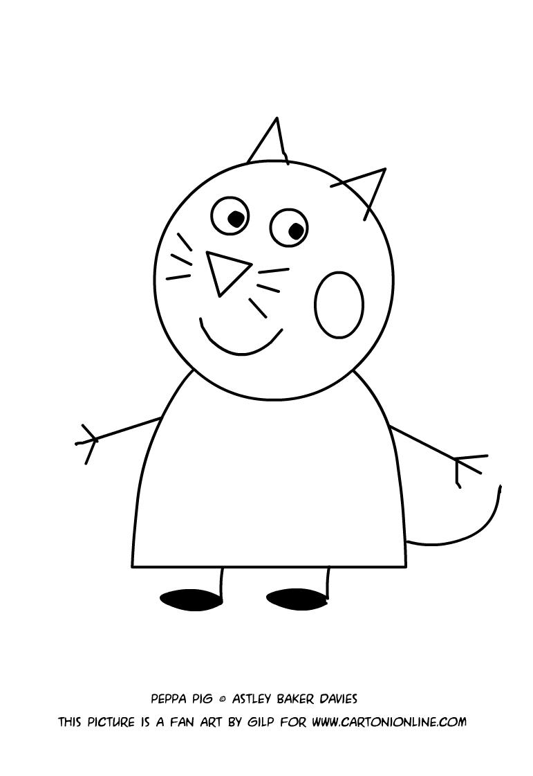 Disegno di candy gatto da colorare for Immagini gatti da colorare