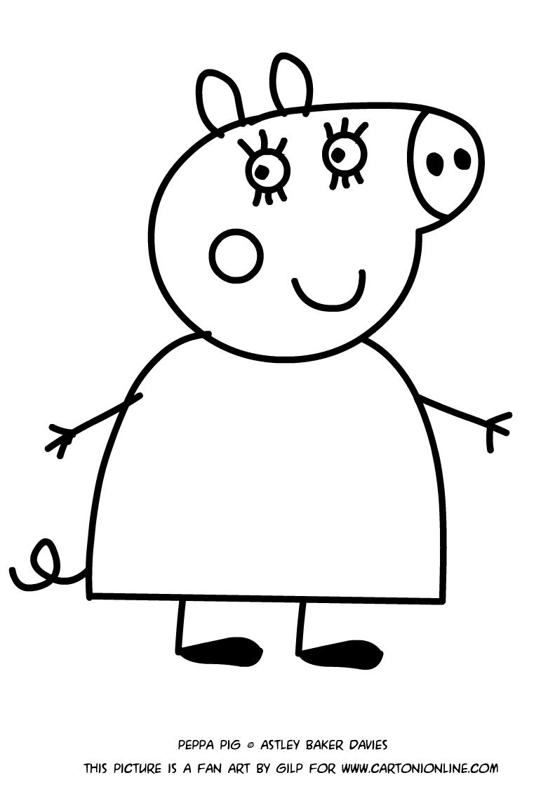 Dibujo de madre cerdo