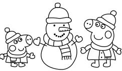Peppa Pig Babbo Natale Da Colorare.Disegni Di Peppa Pig Da Colorare