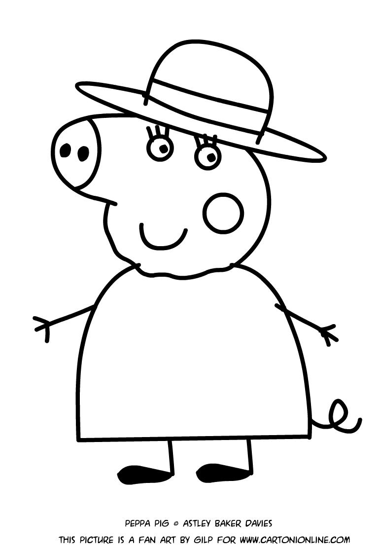 Dibujo de la abuela cerdo