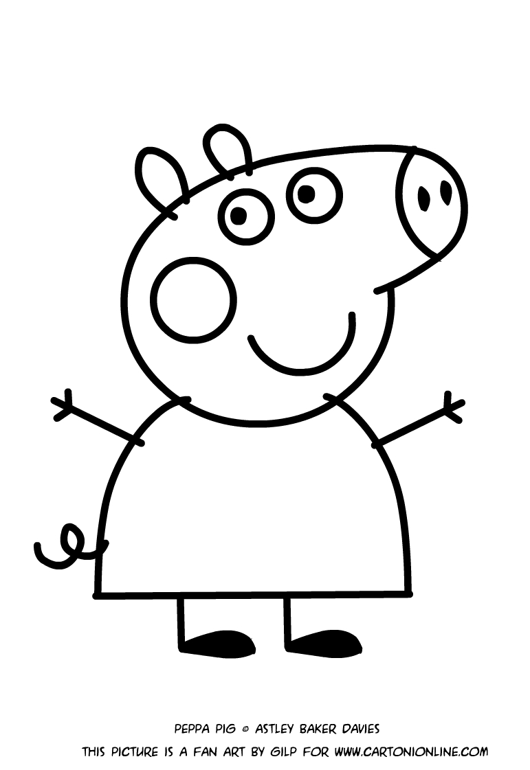 Disegno di peppa pig for Maschere di peppa pig da colorare