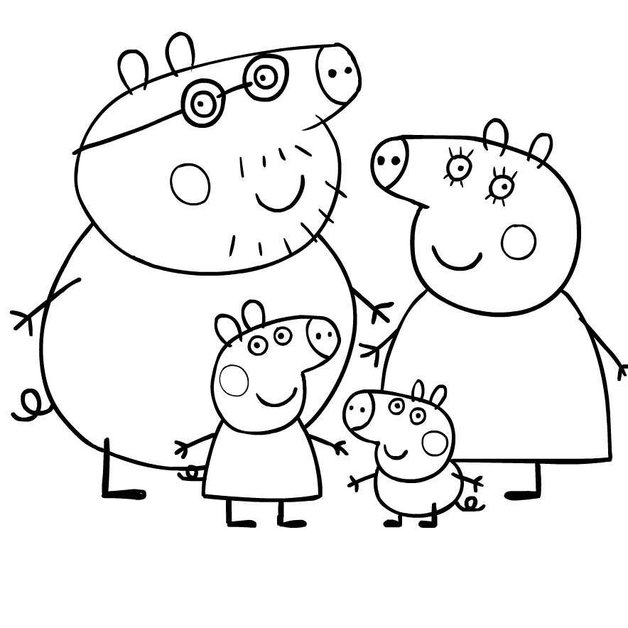 Coloriage 1 De Peppa Pig