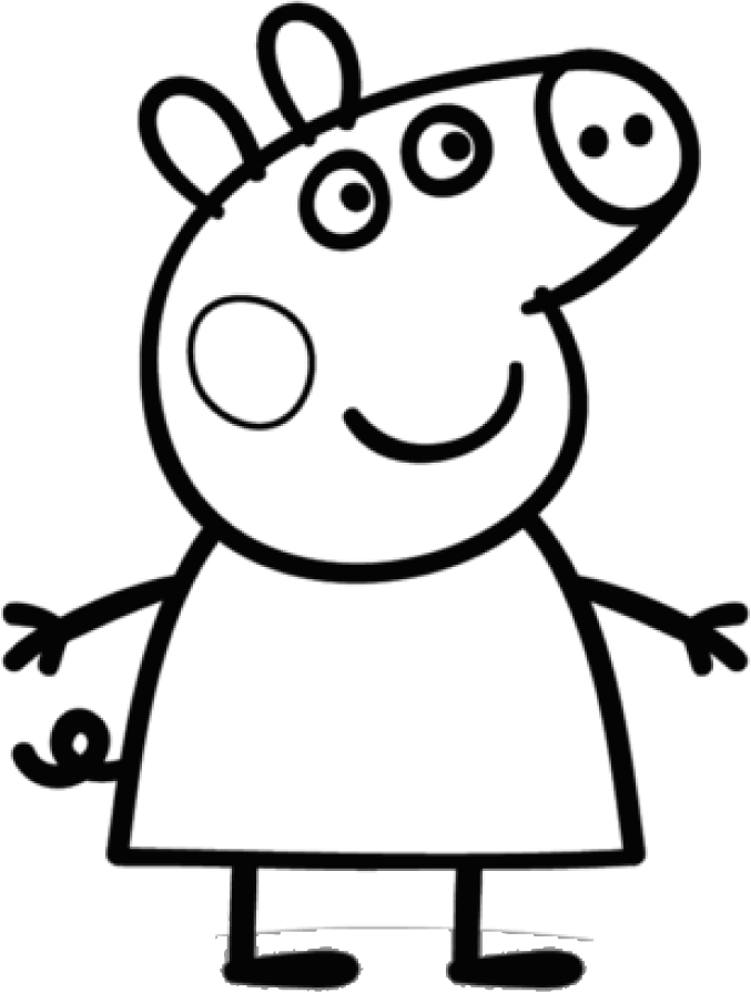 Peppa Pig Coloring Page Drawing 2