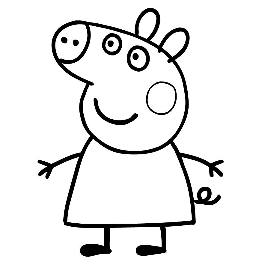 Desenho De Peppa Pig Para Colorir