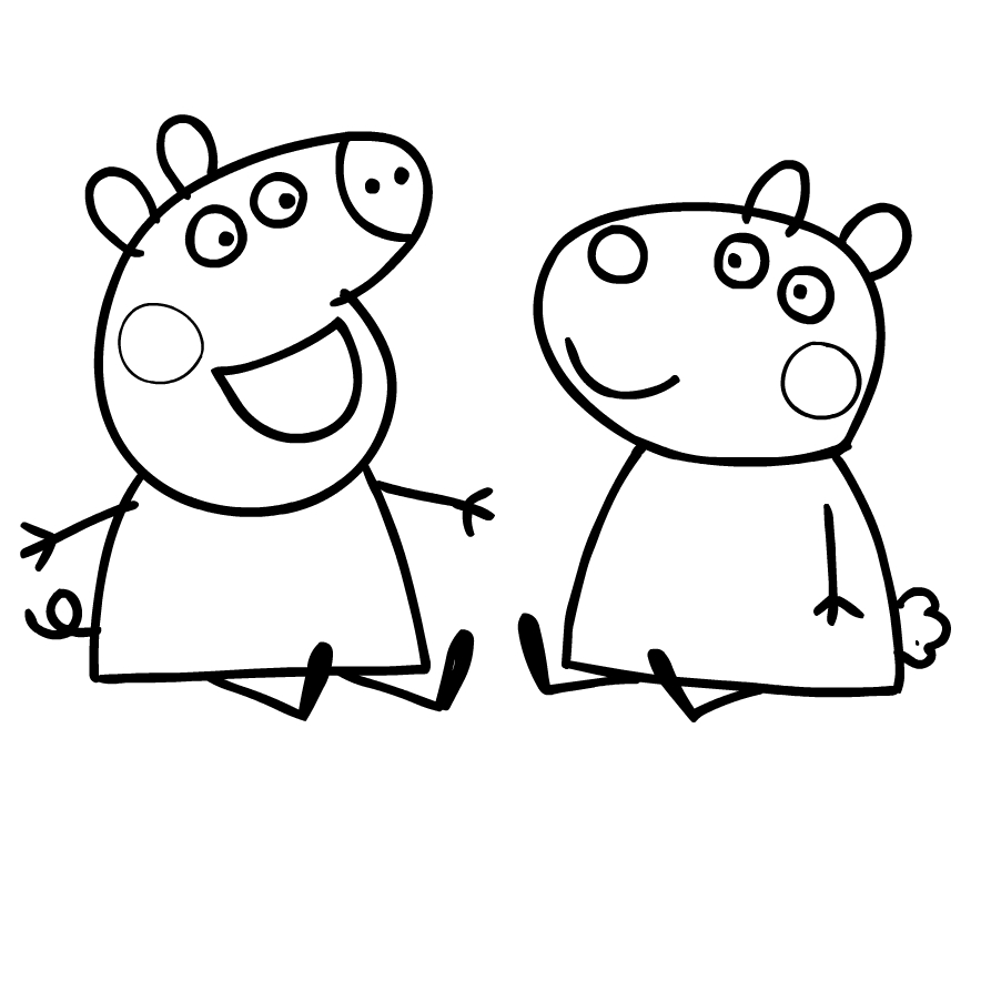 Coloriage 5 De Peppa Pig