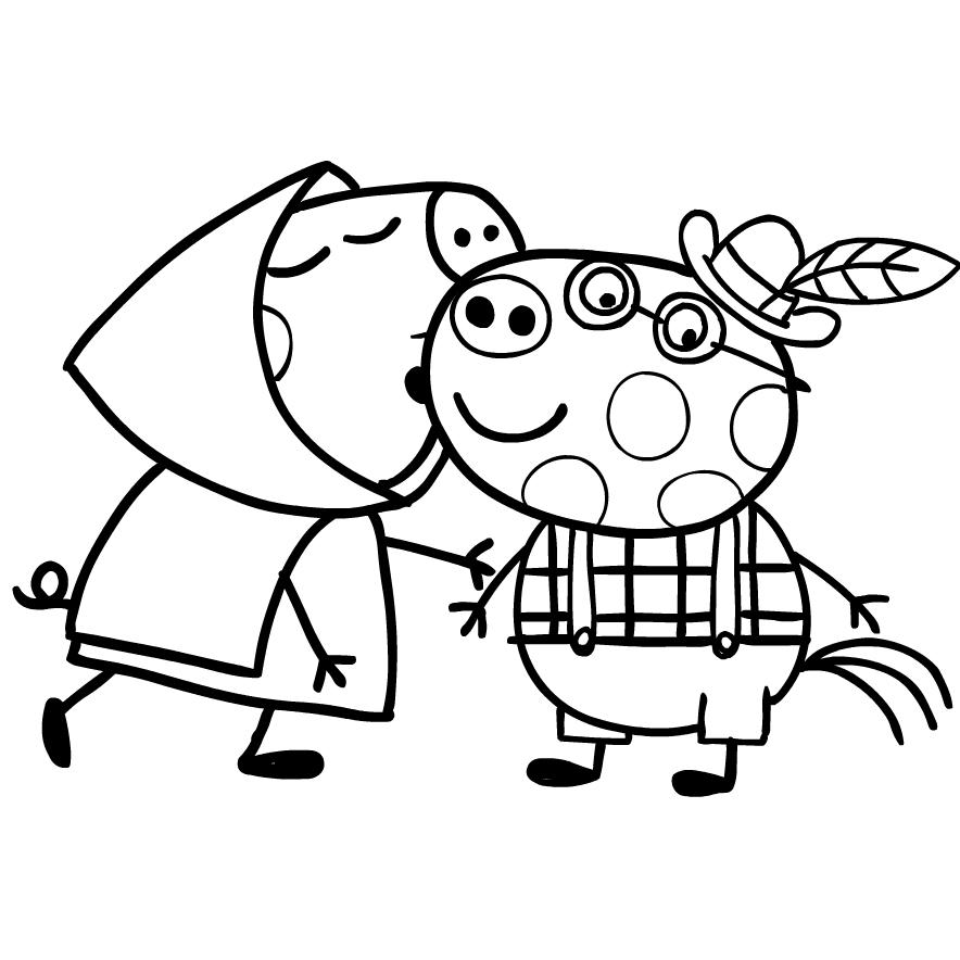 Peppa Pig Coloring Page Drawing 6