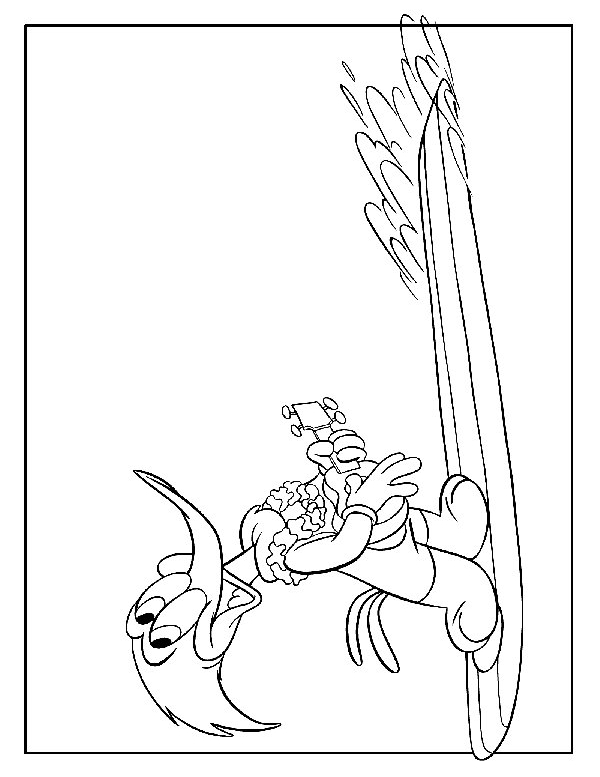 Drawing 2 from Woody Woodpecker coloring page to print and coloring