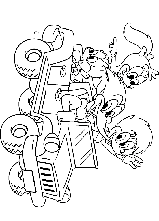 Drawing 13 from Woody Woodpecker coloring page to print and coloring