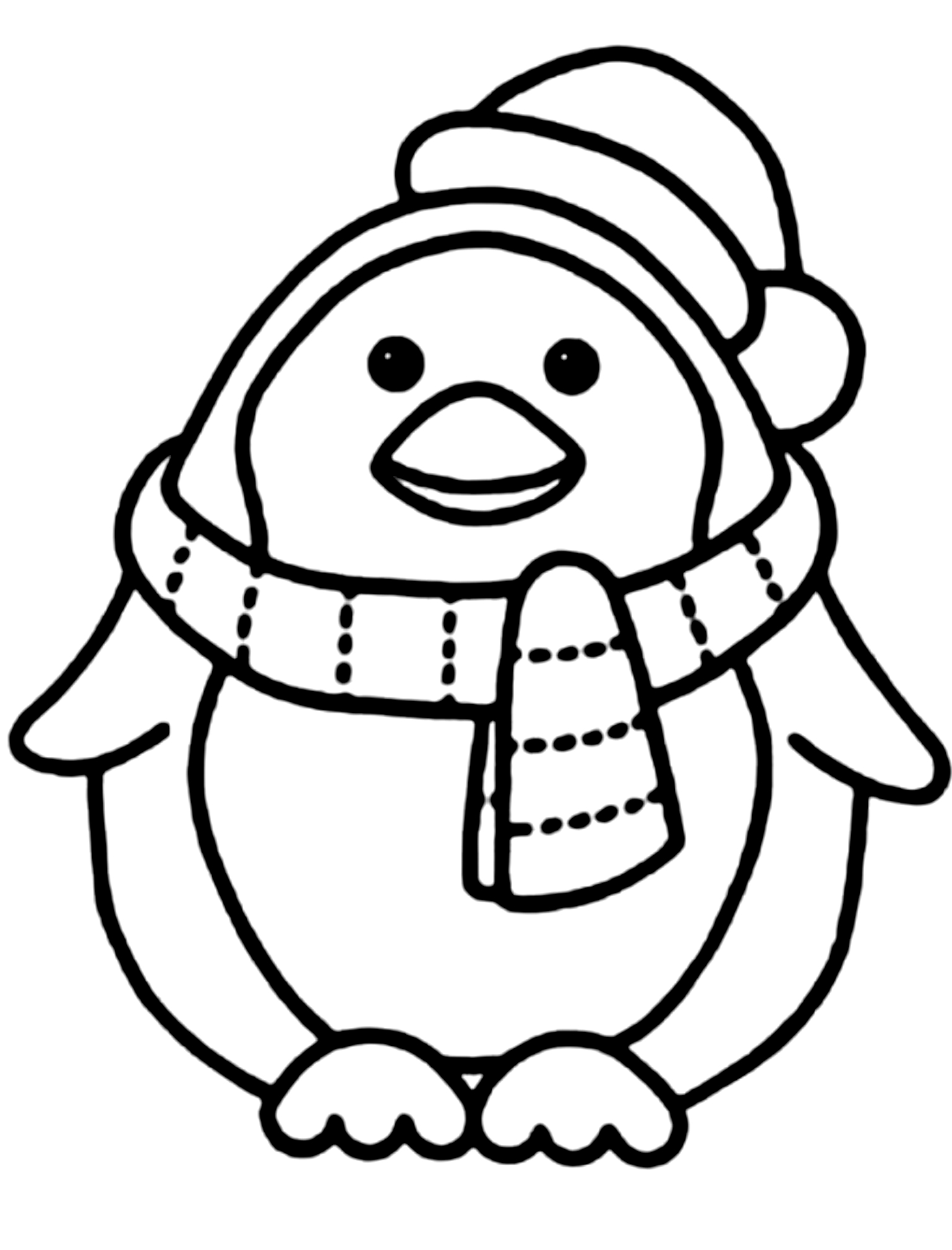Disegno 3 di pinguini da stampare e colorare