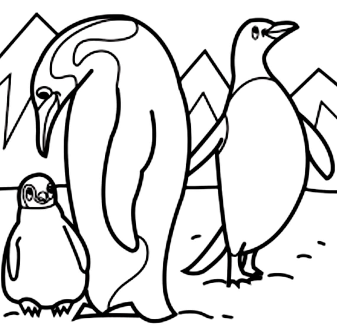 Desenho 5 De Pinguins Para Colorir