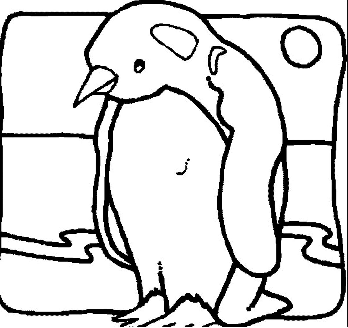 Desenho 20 De Pinguins Para Colorir