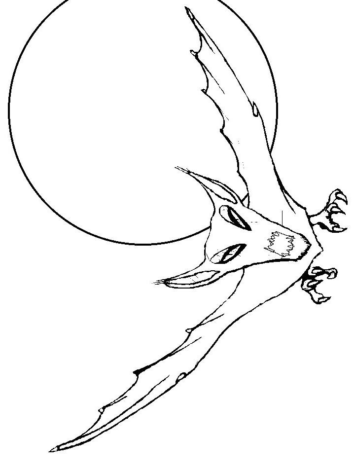 Dibujo 6 de murciélagos para imprimir y colorear