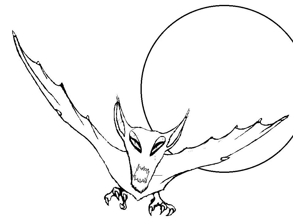 Dibujo 18 de murciélagos para imprimir y colorear