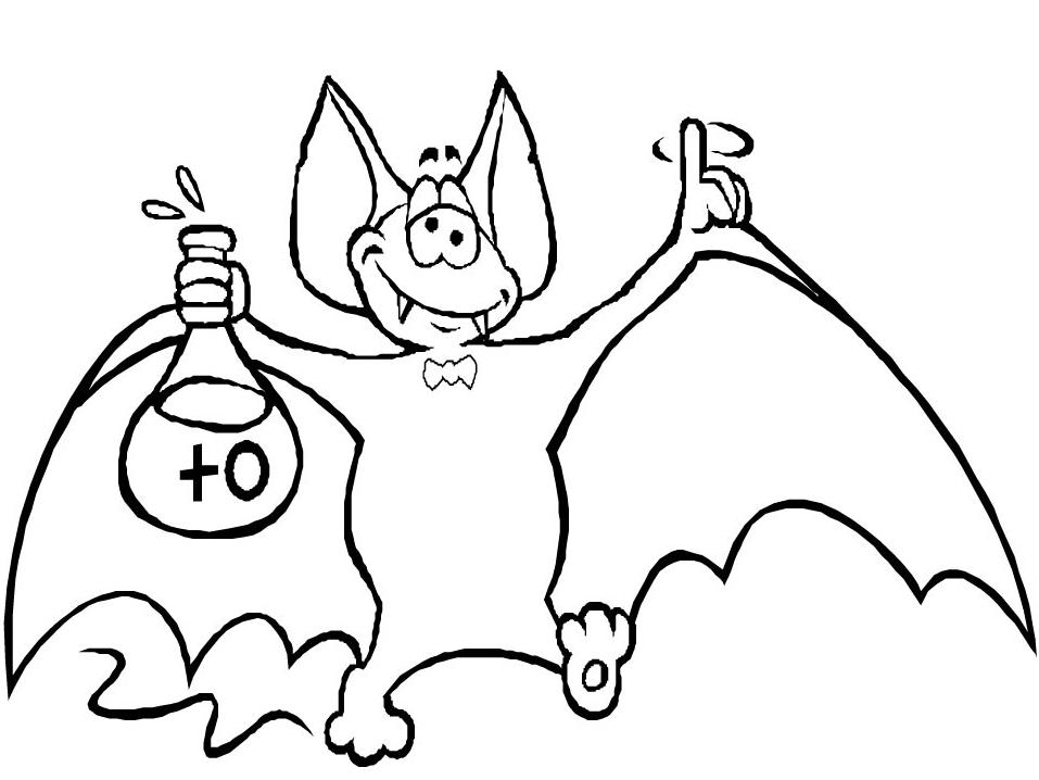 Disegno 19 di pipistrelli da stampare e colorare