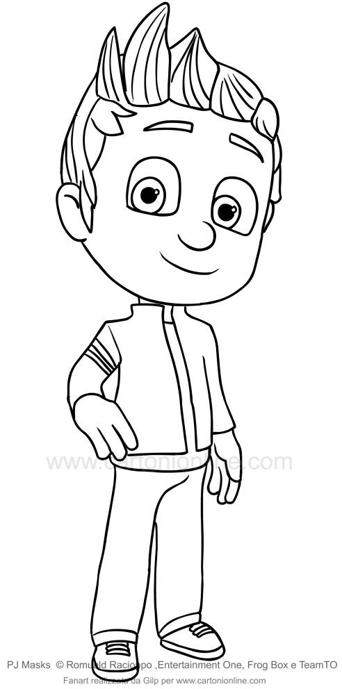Disegno di connor dei pj masks superpigiamini da colorare for Pjmask da colorare